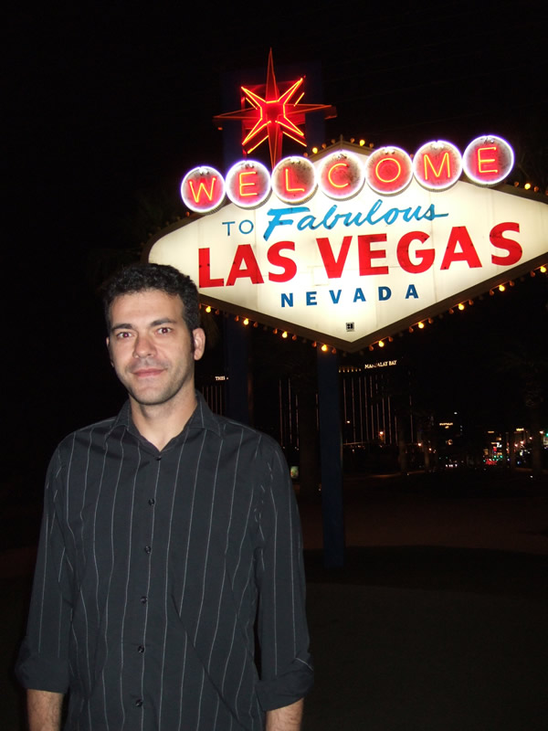 El famoso neón de bienvenida a Sin City