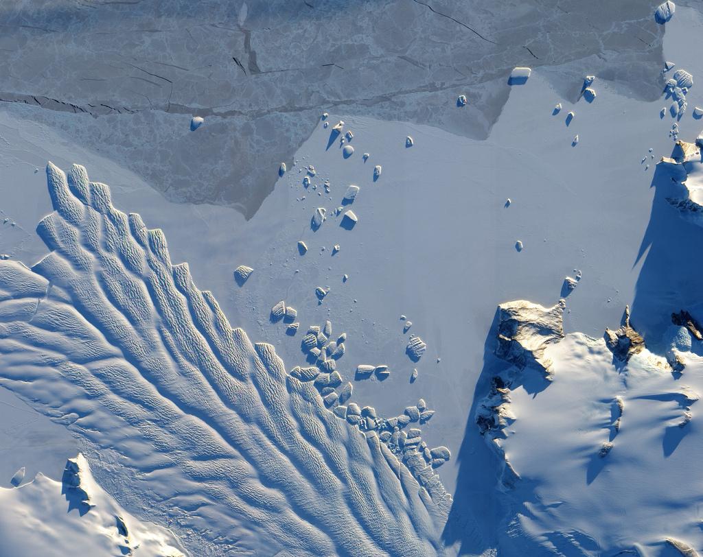 NASA - Glaciar Matusevich, en la Antártida